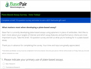 Assay design survey
