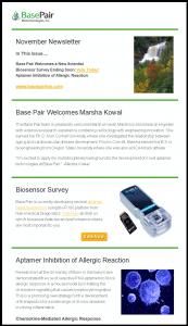 Base Pair November Newsletter
