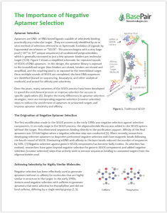 The Importance of Negative Aptamer Selection