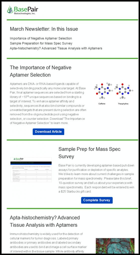 March 2018 Aptamer Newsletter: Aptamers in Immunohistochemistry